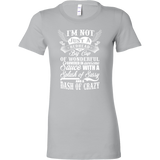 I'm not just a redhead i'm a big cup of wonderful govered in awesome sauce with a splash sassy and a dash of crazy Woman Short Sleeve T Shirt - TL00673WS