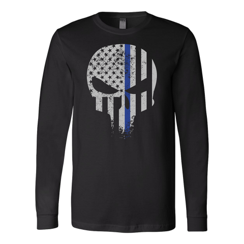 Threadrock Honor & Respect Skullcap Long Sleeve T Shirt - TL00638LS
