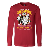 Super Saiyan I May Live In Singapore Long Sleeve T shirt - TL00114LS