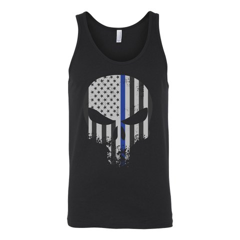Threadrock Honor & Respect Skullcap Unisex Tank Top T Shirt - TL00636TT