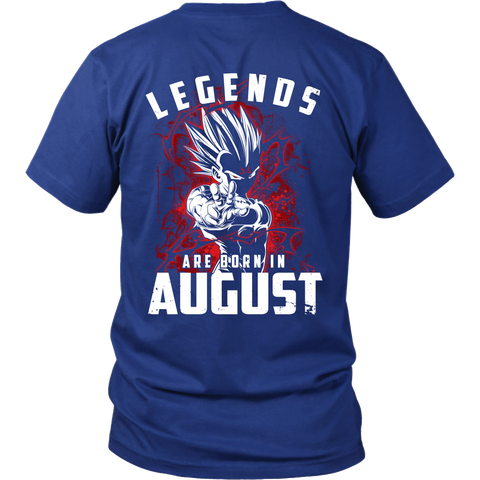 Super Saiyan - Lengends all born in august - Men Short Sleeve T Shirt - TL01032SS