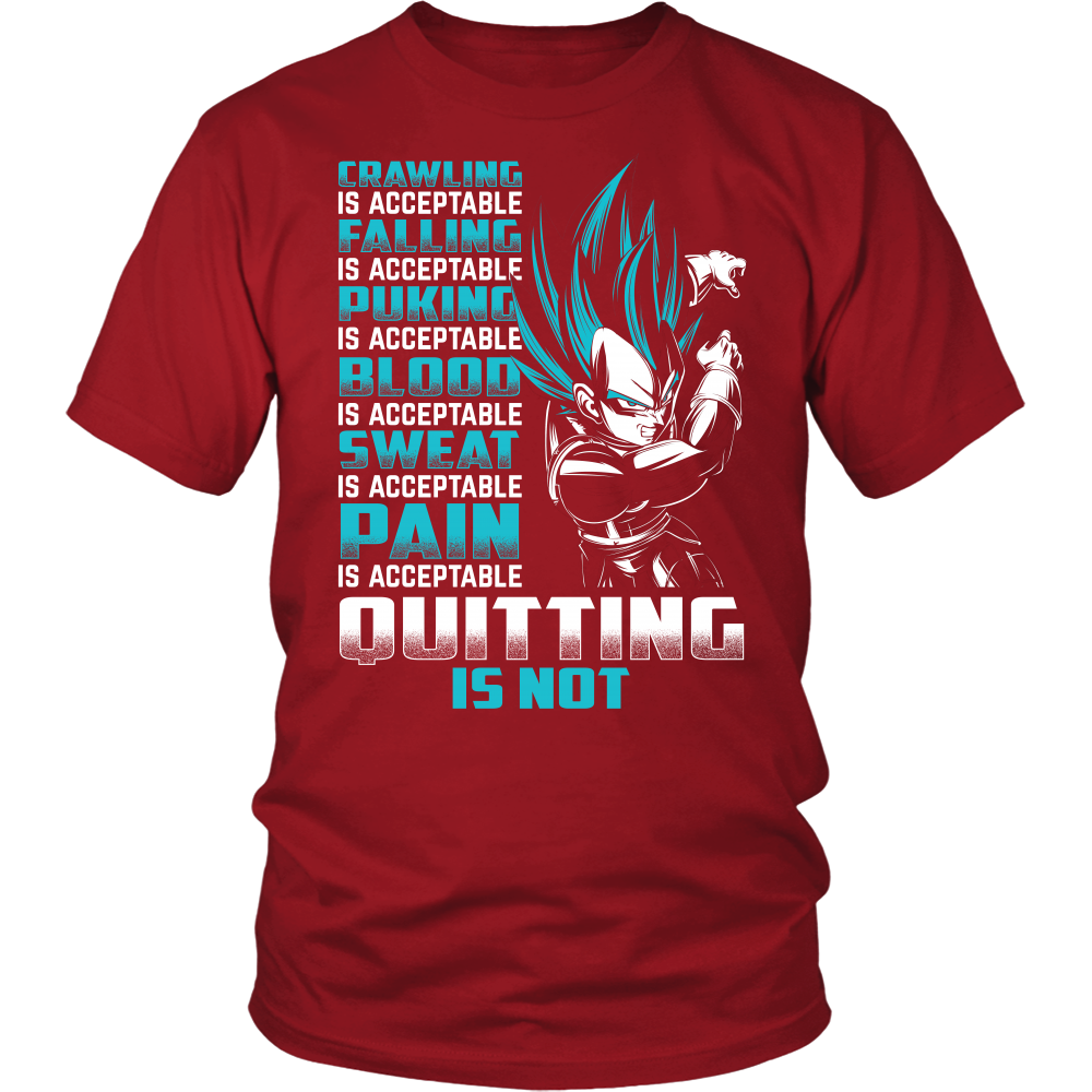 Super Saiyan Vegeta Pain Is Acceptable Quitting Is Not Men Short Sleeve T Shirt - TL00560SS