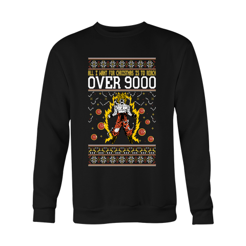 Super Saiyan - Goku Over 9000 - Unisex Sweatshirt T Shirt - TL01072SW
