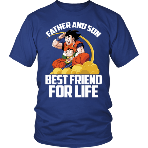 Super Saiyan Goku and Gohan Father and Son Day Men Short Sleeve T Shirt - TL00477SS