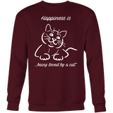 Happiness Is Being Loved By A Cat Sweatshirt T Shirt - TL00635SW