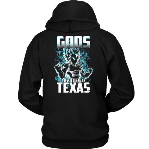 Super Saiyan - Gods all born in Texas - Unisex Hoodie T Shirt - TL01042HO