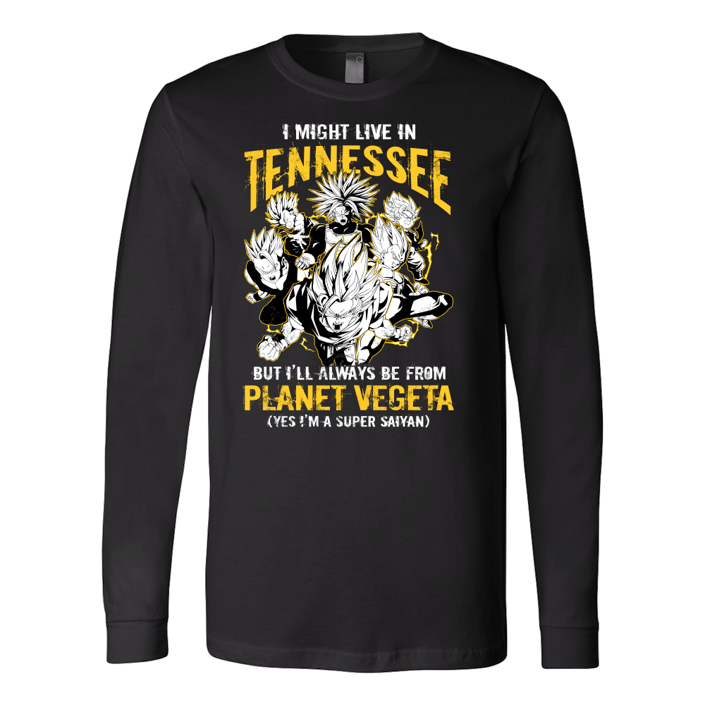 Super Saiyan Tennessee Long Sleeve T shirt - TL00079LS