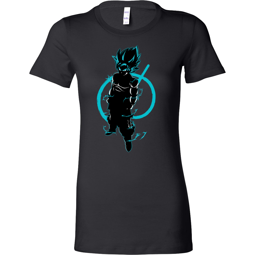SUPER SAIYAN GOKU GOD BLUE Woman Short Sleeve T Shirt - TL00174WS