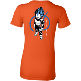Super Saiyan Blue Vegeta God Woman Short Sleeve T shirt - TL00016WS