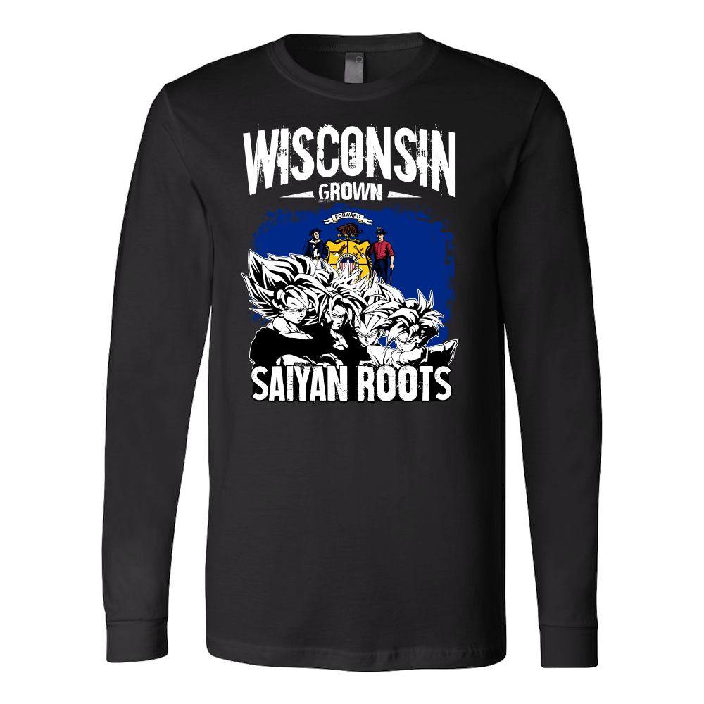 Super Saiyan I May Live in Wisconsin Long Sleeve T shirt - TL00147LS