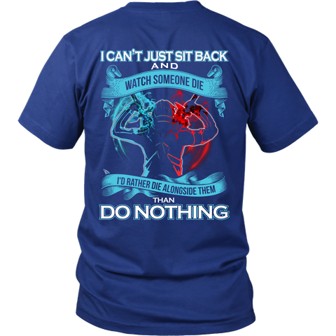 SAO Sword Art Online - I can't just sit back and wath some die - Men Short Sleeve T Shirt - TL01188SS