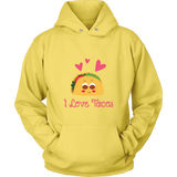 Taco mexican i love tacos Unisex Hoodie Funny T Shirt - TL00593HO