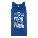 Super Saiyan Vegeta God Blue stay on throne Unisex Tank Top T Shirt -TL00237TT