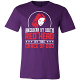Hobbies - American by birth red head by the grace of god - men short sleeve t shirt - TL00838SS