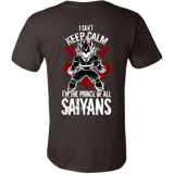 Super Saiyan Vegeta I Can't Keep Calm Men Short Sleeve T Shirt - TL00058SS