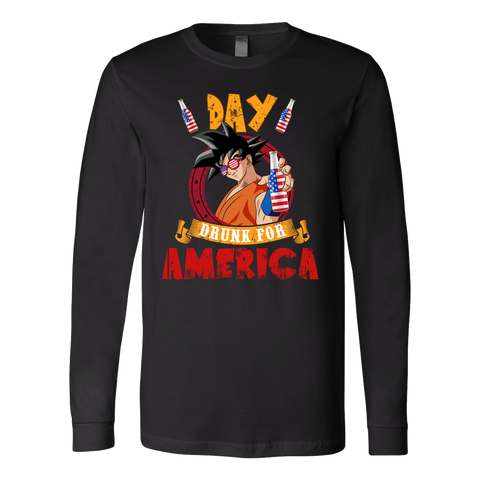 Super Saiyan - Day Drunk For American - Unisex Long Sleeve - TL01372LS