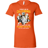 Super Saiyan I May Live in California Woman Short Sleeve T shirt - TL00005WS
