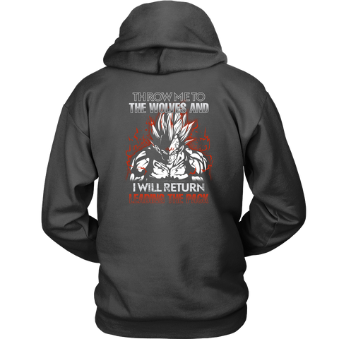 Super Saiyan - Majin Vegeta I will return - Unisex Hoodie T Shirt - TL01294HO
