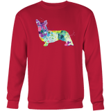 Pet - Welsh Corgi Cardigan In Watercolor Women's O-Neck - Sweatshirt T Shirt - TL00828SW