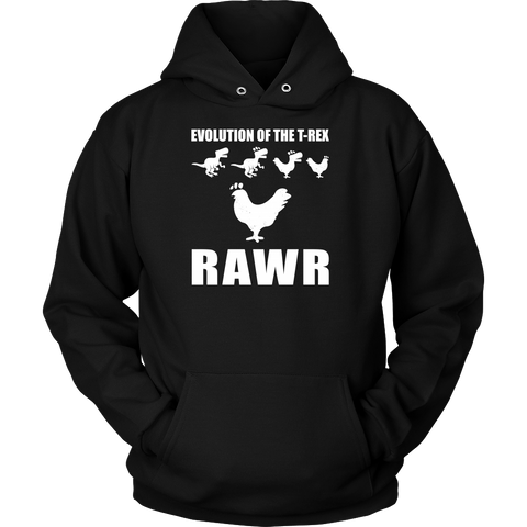 Dinosaur - Evolution Of The T-Rex Rawr - Unisex Hoodie T Shirt - TL00858HO - The TShirt Collection