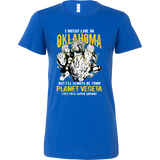 Super Saiyan I May Live in Oklahoma Woman Short Sleeve T shirt - TL00084WS