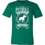 If my pitbull doesn't like you, i probably won't either Men Short Sleeve T Shirt - TL00653SS