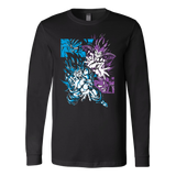 Super Saiyan Goku and Vegeta Fight Long Sleeve T shirt -TL00027LS
