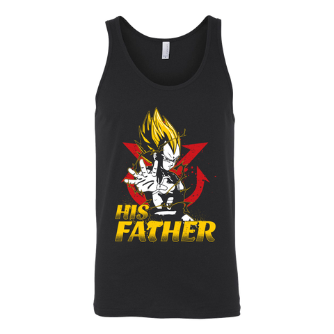 Super Saiyan Vegeta Dad Unisex Tank Top T Shirt - TL00490TT