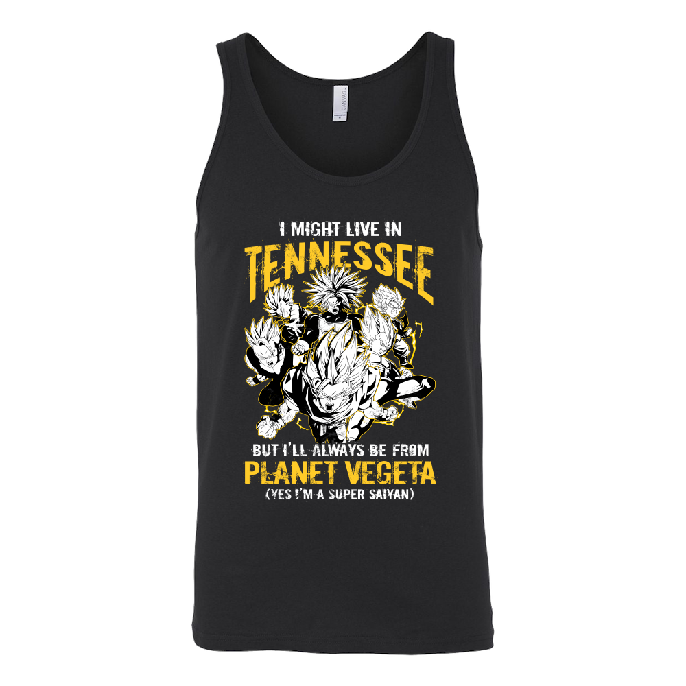 Super Saiyan I May Live in Tennessee Unisex Tank Top T Shirt - TL00079TT