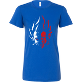 Super Saiyan Vegeta half face Woman Short Sleeve T Shirt - TL00231WS