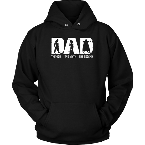 Super Saiyan -Dad the god the myth the legend  - Unisex Hoodie - TL01363HO