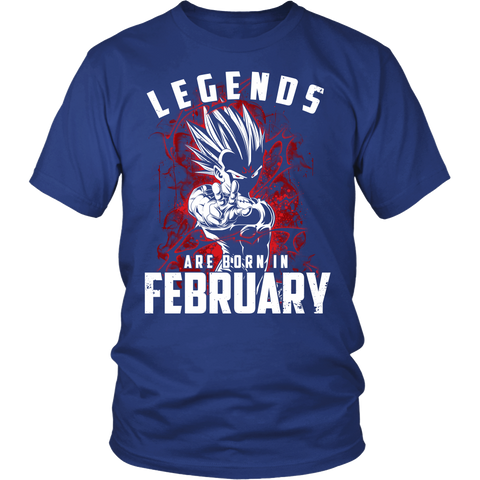 Super Saiyan - Lengends all born in February - Men Short Sleeve T Shirt - TL01036SS