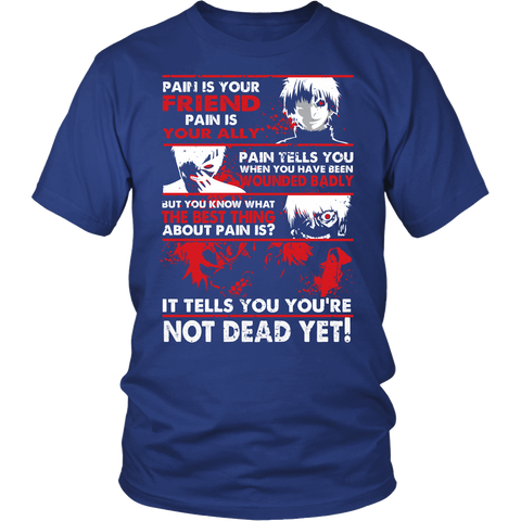 Tokyo Ghoul - Kaneki Pain It tells you you're not dead yet - Men Short Sleeve T Shirt - TL01047SS