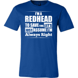 Hobbies - I m a redhead to save time - men short sleeve t shirt - TL00830SS