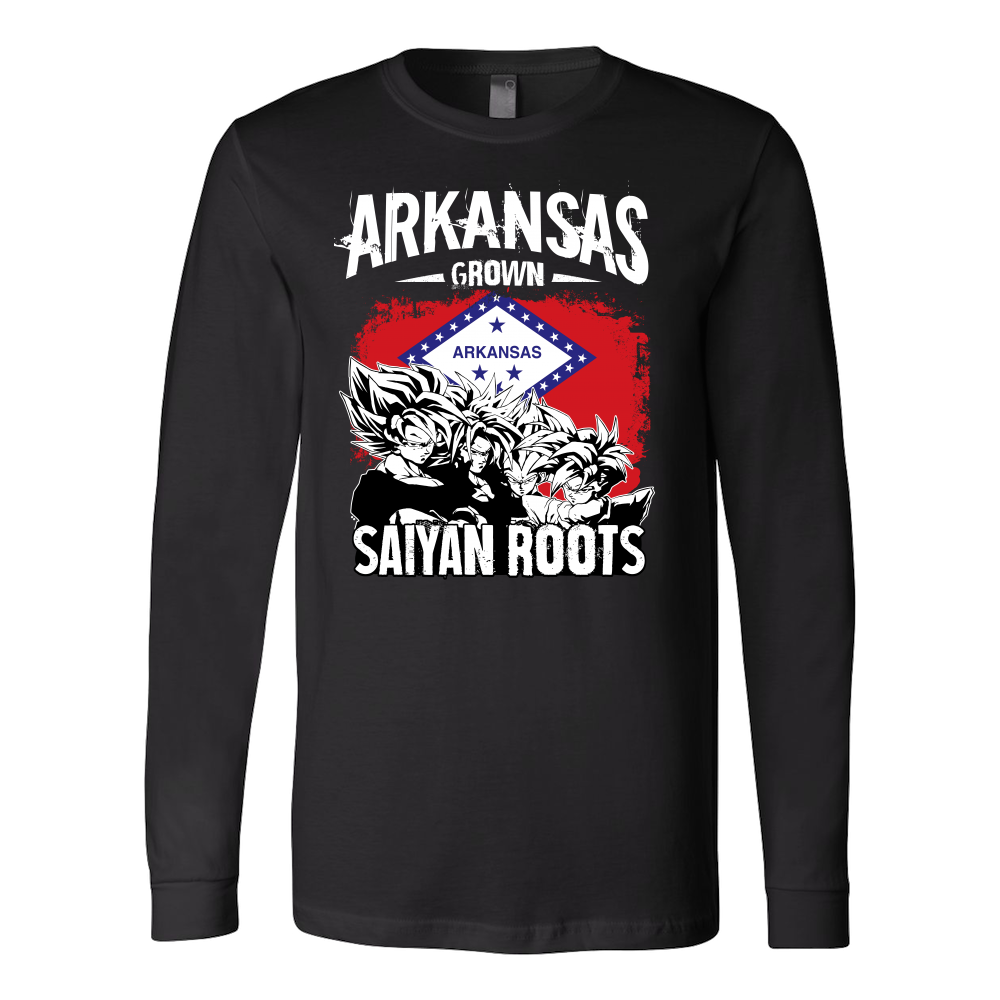 Super Saiyan Arkansas Grown Saiyan Roots Long Sleeve T shirt - TL00167LS