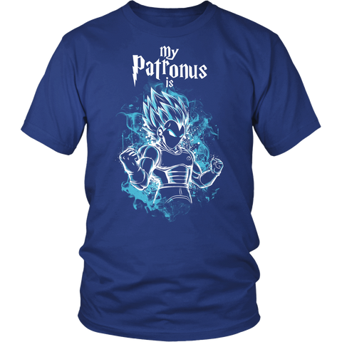 Super Saiyan - My Patronus is Vegeta God Blue - Men Short Sleeve T Shirt  - TL00899SS