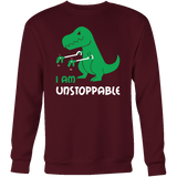 Dinosaur - I am unstoppable - Sweatshirt T Shirt - TL00845SW - The TShirt Collection