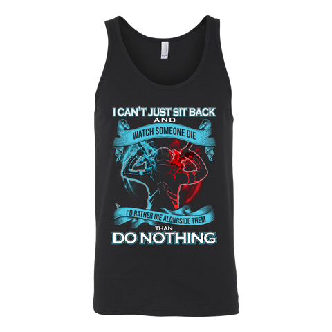 SAO Sword Art Online - I can't just sit back and wath some die - Unisex Tank Top T Shirt - TL01188TT