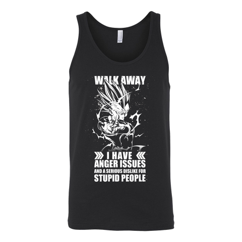 Super Saiyan -Walk away i have anger issues - Unisex Tank Top T Shirt - TL01306TT