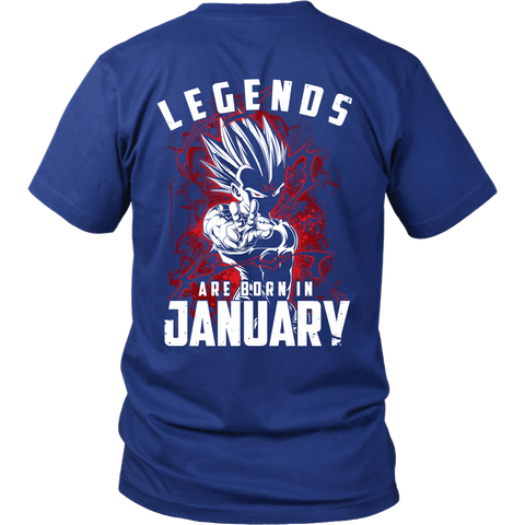 Super Saiyan - Lengends all born in January - Men Short Sleeve T Shirt - TL01035SS