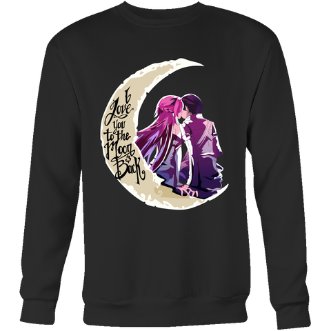 SAO Sword Art Online - I Love you to the moon and back - Unisex Sweatshirt T Shirt - TL01221SW