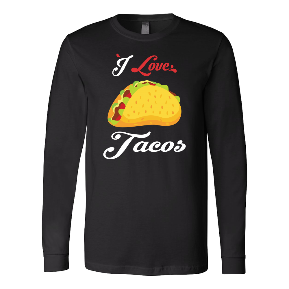 Taco mexican i love tacos Long Sleeve Funny T Shirt - TL00591LS