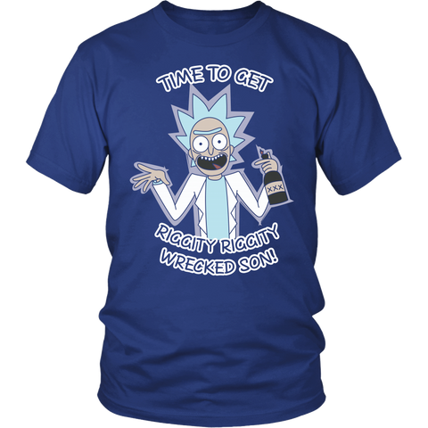 Rick And Morty - It's time to get riggity riggity wrecked son - Men Short Sleeve T Shirt - TL01156SS