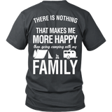 Camping - Going camping with my family - Back - Men Short Sleeve T Shirt - TL01330SS