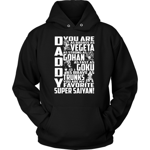 Super Saiyan Goku Vegeta Gohan Trunks Father and Son Dad Unisex Hoodie T shirt - TL00539HO