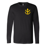 Super Saiyan Long Sleeve T shirt - Yellow Vegeta Saiyan Crest - TL00014LS