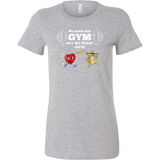 Taco mexian my head say gyms but my heart says taco Woman Short Sleeve Funny T Shirt - TL00613WS