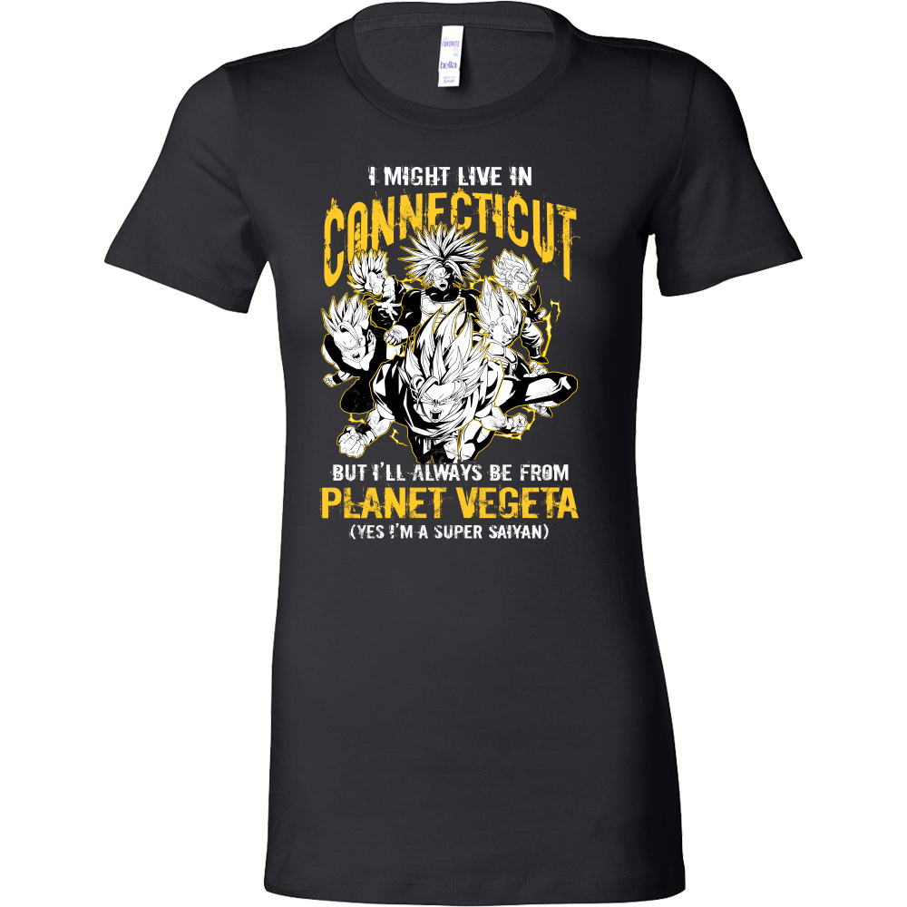 Super Saiyan I May Live in Connecticut Woman Short Sleeve T shirt - TL00092WS