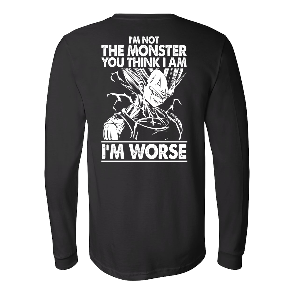 Super Saiyan Majin Vegeta I'm Not Monster Long Sleeve T shirt - TL00051LS