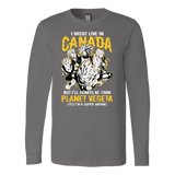 Super Saiyan I May Live In Canada Long Sleeve T shirt - TL00110LS